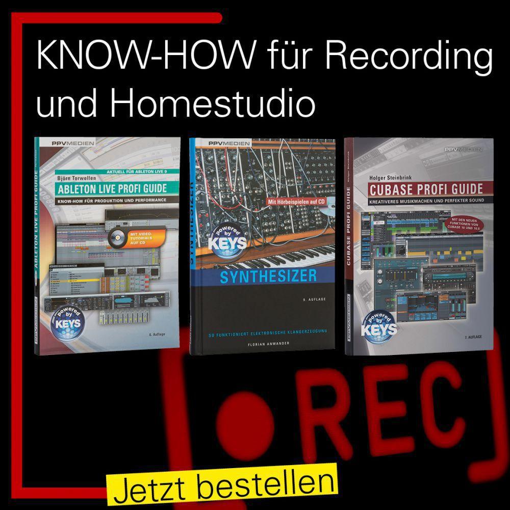 Fachbücher für Recording vom PPVMEDIEN Verlag