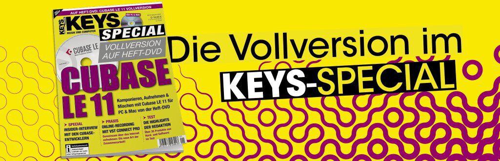 KEYS - Cubase LE 11 Vollversion im Keys Special